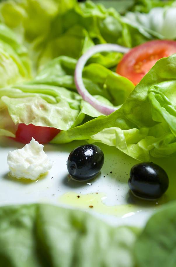 Salad with olive